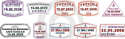 Northern European Passport Stamps