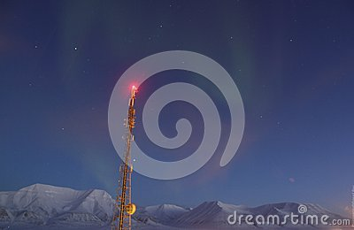 Northern Light in 78 Degree Arctic Editorial Stock Image