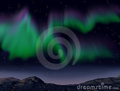Northern Lights Royalty Free Stock Photos - Image: 10166198