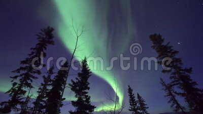 Northern lights in Arctic Canada stock footage