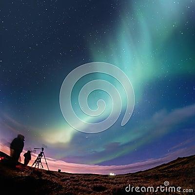 Free Northern Lights (Aurora Borealis) Stock Image - 18516071