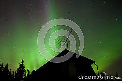 Northern lights (Aurora borealis) substorm