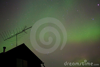 Northern lights (Aurora borealis) substorm