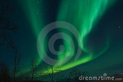 Northern lights (Aurora Borealis) swirls