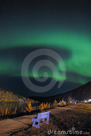 Northern lights over Love chair