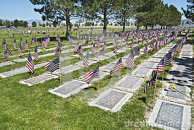 Northern Nevada Veterans Memorial Cemetery Editorial Stock Photo