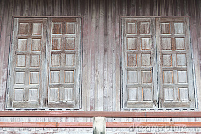 Northern Thai traditional wooden windows.