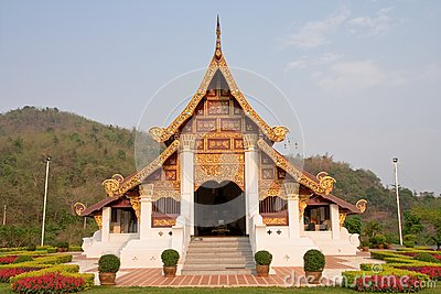 Northern traditional Thai style architecture