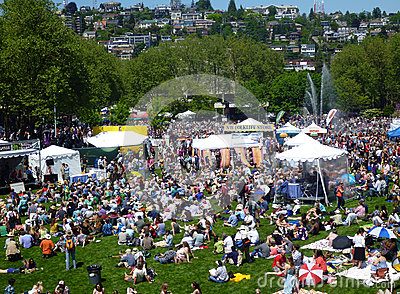 Northwest Folklife Festival Editorial Photo