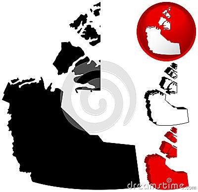 Northwest Territory Canada Map