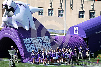 Northwestern Wildcats football Editorial Stock Image
