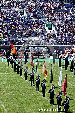 Northwestern Wildcats football band Editorial Image