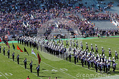 Northwestern Wildcats football band Editorial Image