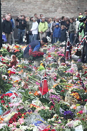 Norway after attacks Editorial Stock Image