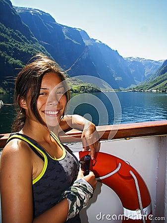 Norway cruise ship woman