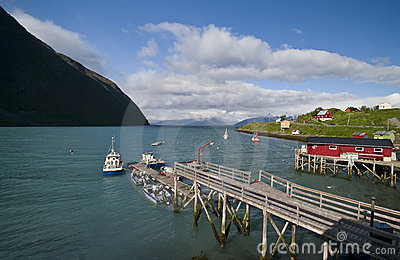 Norway fishing port