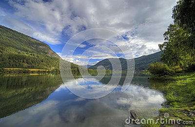 Norway fjord reflection