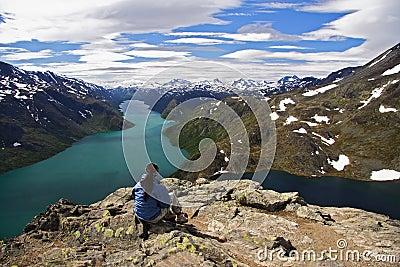 Norway Hiker Resting