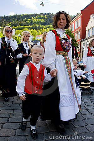 Free Norway Independence Day. 17 May. Bergen. Stock Photography - 9698622