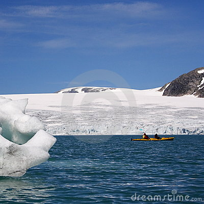 Norway: Kayak near glacier