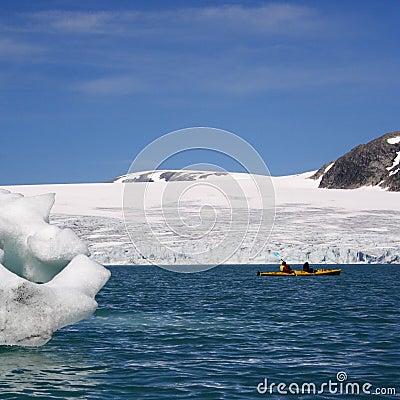 Norway: Kayak near glacier