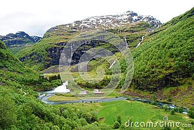 Norway landscape Flam railway