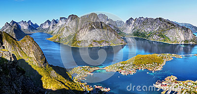 Norway, Nature Fjord Coast Mountain Landscape