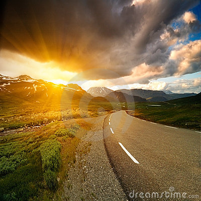 Free Norway Road Stock Photography - 5389782