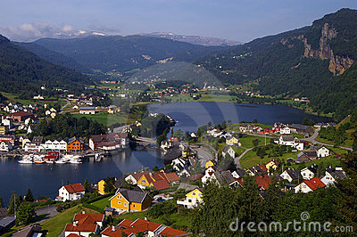 Norway, town by fjord