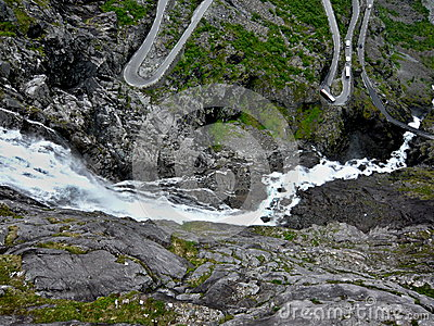 Norway-Troll trail and waterfall