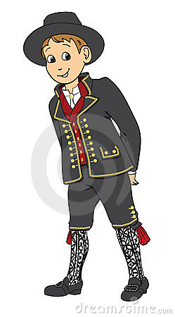 Norwegian boy dressed in a traditional suit
