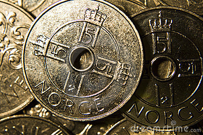 Norwegian Coins Royalty Free Stock Photography - Image: 8731087