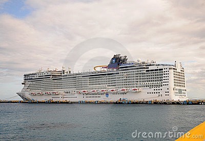 Norwegian Epic docked Editorial Stock Photo