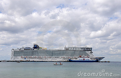Norwegian Epic from Norwegian Cruise Lines Editorial Photography