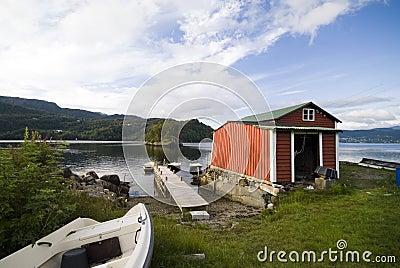 Norwegian fishing hut