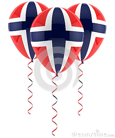 Norwegian flag balloon