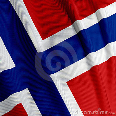 Norwegian Flag Closeup