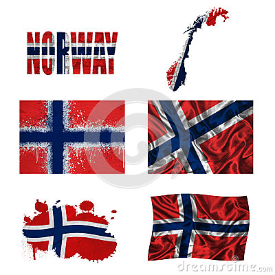 Norwegian flag collage