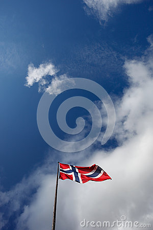 Free Norwegian Flag In Sky Royalty Free Stock Images - 34251119
