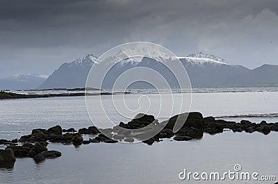 Norwegian mountain coast