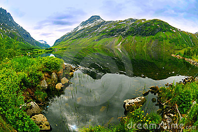 Norwegian mountain lake