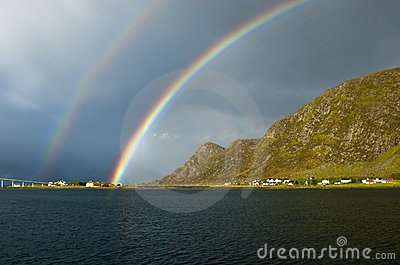 Norwegian Rainbow near Alesund