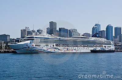 Norwegian Star Ship in Seattle Editorial Photography