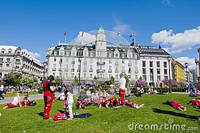 Norwegian students Editorial Image