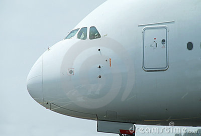 Nose of big airliner