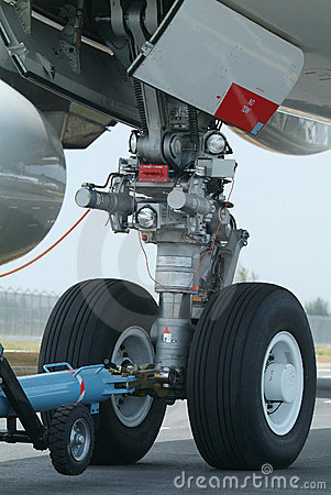 Nose wheel of wide-body airplane