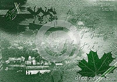 Nostalgia - green collage