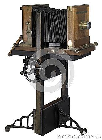 Nostalgic wooden camera