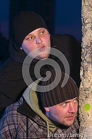 Nosy men at night