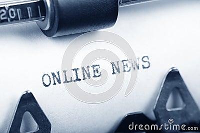 Notícia em linha